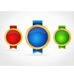 Medals template vector image