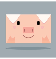 Pig Letter vector image vector image