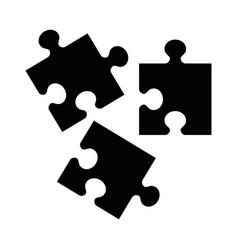 Black puzzle icon vector