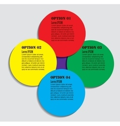 Infographics design element vector image vector image