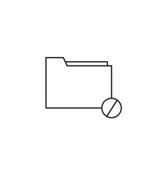 restricted folder icon vector image