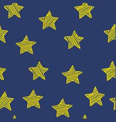 scribble stars on dark blue background christmas vector image