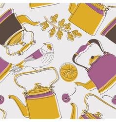 tea kettle wallpaper vector image vector image