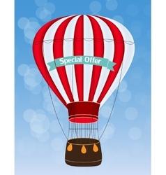 Air Balloon Background vector image
