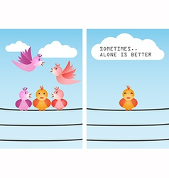 Alone is better vector image