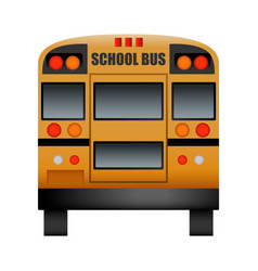 Back of school bus mockup realistic style vector