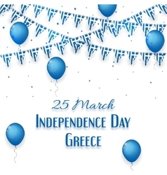 background with a garland from greece flags vector image