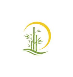 Bamboo logo template icon vector