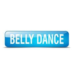 Belly dance blue square 3d web button vector