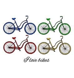 bikes vector image
