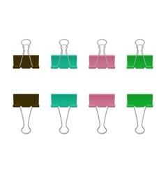 binder clips vector image