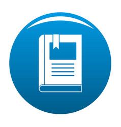Bookstore icon blue vector