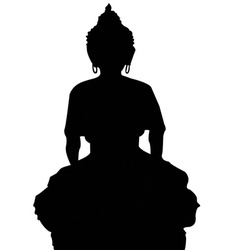 Buddha icons vector