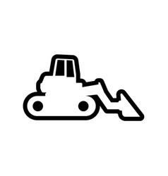 bulldozer icon design template isolated vector image