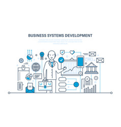 Business systems development analysis research vector