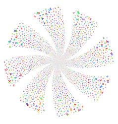 Care award fireworks swirl flower vector