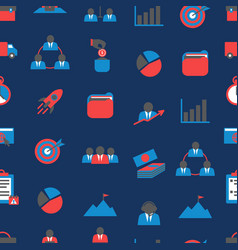 cartoon color project management seamless pattern vector image