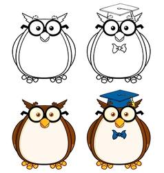 Cartoon owl design vector