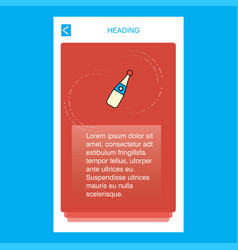 celebration drink mobile vertical banner design vector image