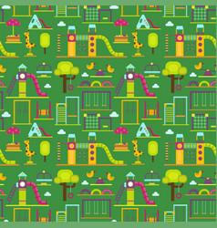 children playground kindergarten amusement vector image