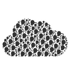 Cloud composition of lier icons vector