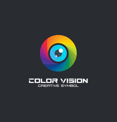 color vision camera eye creative symbol concept vector image