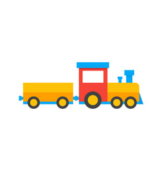 Colored train toys kids vector