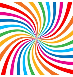 Colorful Bright Rainbow Spiral Background logo vector