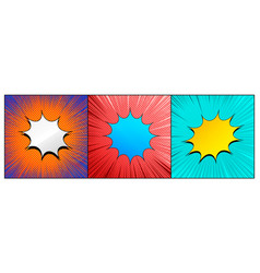 comic bright explosive backgrounds vector image