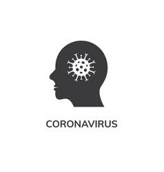 coronavirus covid19 19 head icon pandemic vector image