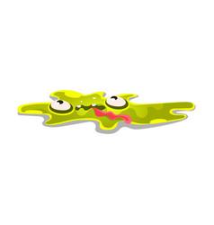 cute cartoon slick monster funny bright jelly vector image