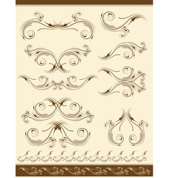 Decorative frame and ornaments for design vector