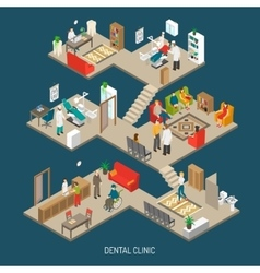 Dental Clinic Concept Isometric Banner vector