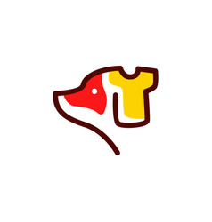 dog shirt logo icon vector image