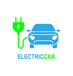 Electro car simple related icon set for vector