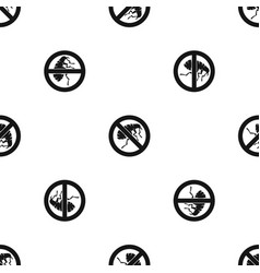 Etching insect pattern seamless black vector