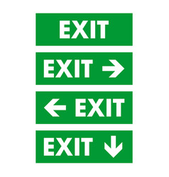 exit sign logo template design vector image
