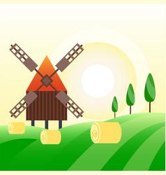 farm agriculture banner rural landscape products vector image