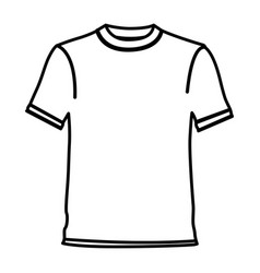 figure t-shirt cloth icon vector image