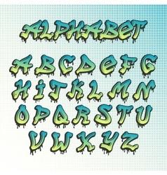 Graffity grunge font alphabet vector