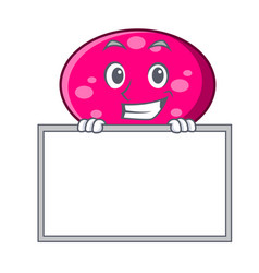 grinning with board ellipse character cartoon vector image