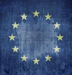 Grunge Flag Of Europe vector