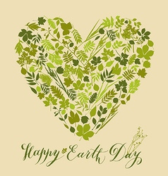 Happy earth day background Nature abstract vector image