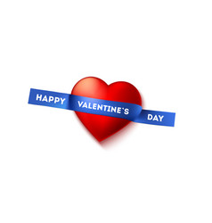 happy valentines day greetings written on sticky vector image