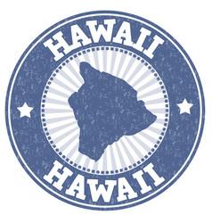 Hawaii grunge stamp vector
