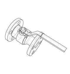 industrial valve outline rendering of 3d vector image