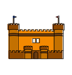 isolated castle design vector image vector image