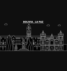 la paz silhouette skyline bolivia - la paz vector image