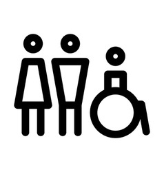 Man women and disabled sign vector image vector image