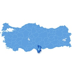 Map of Turkey Hatay vector